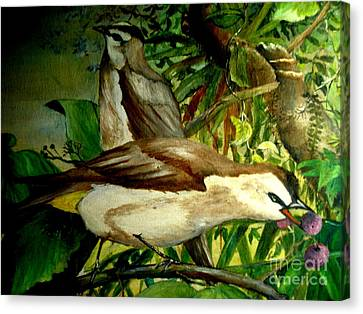 Canvas Print featuring the painting Bird From Bali  by Jason Sentuf