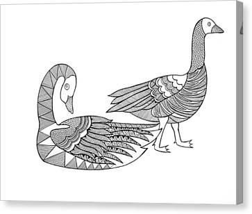Bird Goose Geese Canvas Print