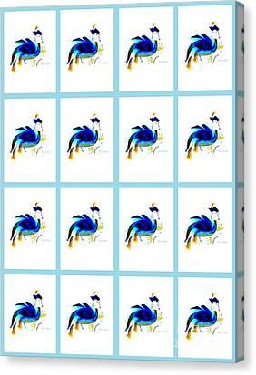 Canvas Print featuring the digital art Bird Lady 2 by Ann Calvo