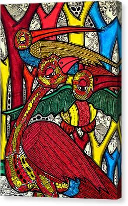 Yellow Beak Canvas Print - Bird Life by Muktair Oladoja