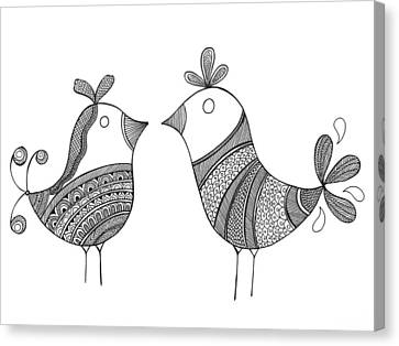 Bird Love Birds Canvas Print