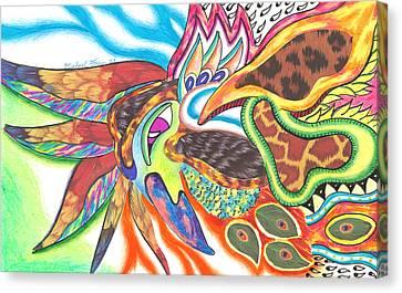 Michael Canvas Print - Phoenix Our Immortal Bird by Michael Andrew Frain