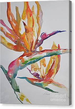 Canvas Print featuring the painting Bird Of Paradise #2 by Roger Parent