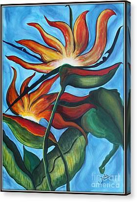 Bird Of Paradise Canvas Print by Jolanta Anna Karolska
