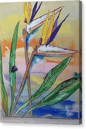 Bird Of Paradise Canvas Print by Karen Carnow