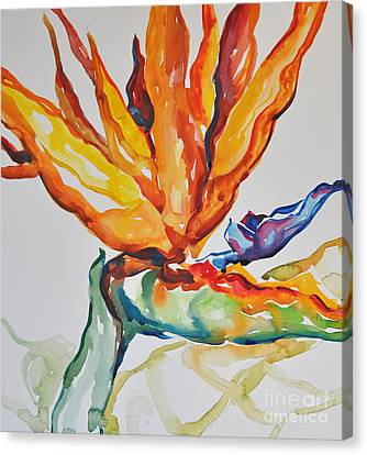 Canvas Print featuring the painting Bird Of Paradise by Roger Parent