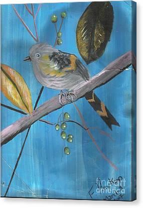 Bird On A Branch  Canvas Print by Francine Heykoop