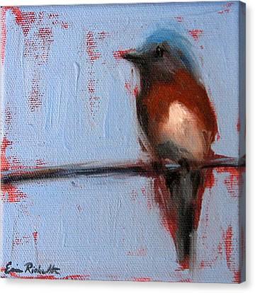 Bird On A Wire II Canvas Print