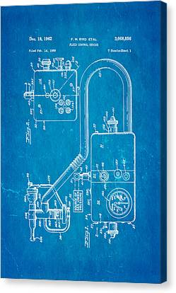 Bird Respirator Patent Art 1962 Blueprint Canvas Print by Ian Monk
