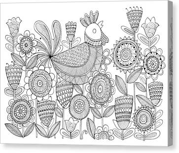 Bird Rooster 6 Canvas Print