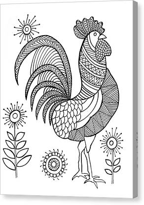 Bird Rooster Canvas Print