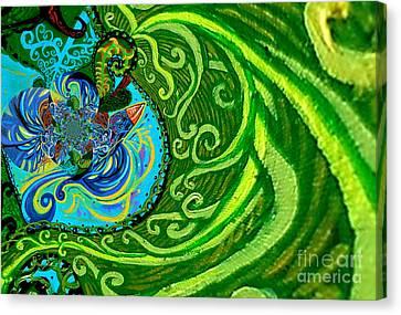 Bird Song Swirl Canvas Print by Genevieve Esson