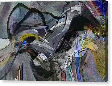 Canvas Print featuring the digital art Bird That Wept With Me by Richard Thomas