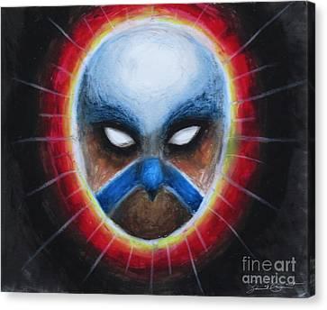 Bird Totem Mask Canvas Print