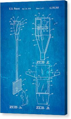 Bird Trap Cat Feeder Patent Art 1979 Blueprint Canvas Print