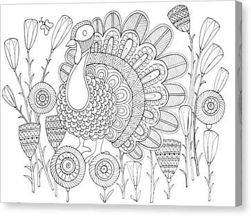 Bird Turkey Bird 1 Canvas Print