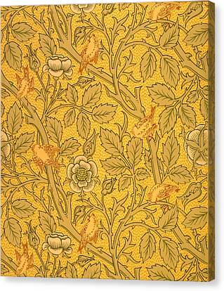 Bird Wallpaper Design Canvas Print by William Morris