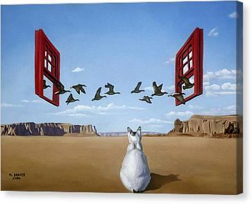 Bird Watcher Canvas Print by Michael Bridges