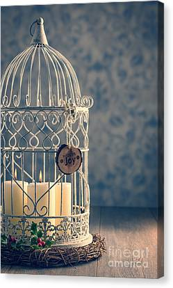 Birdcage Candles Canvas Print by Amanda Elwell