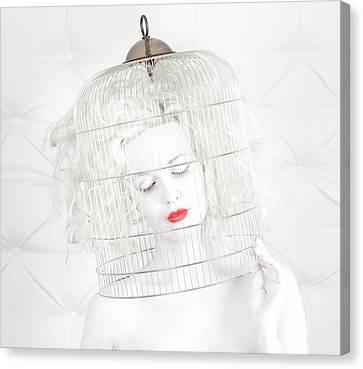 Birdcage Canvas Print - Birdcage Love by John Andre Aasen