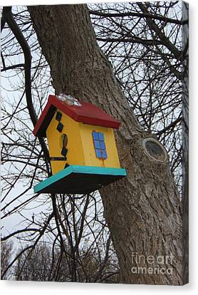 Birdhouse Of Color Canvas Print by Margaret McDermott