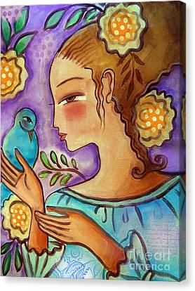 Birdie Canvas Print by Elaine Jackson