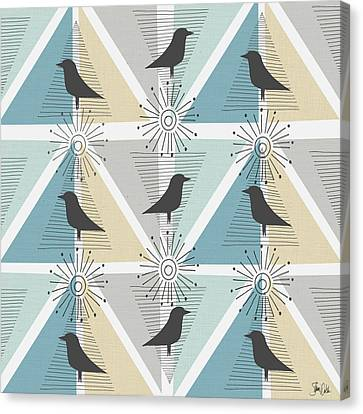 Birds & Triangles I Canvas Print by Shanni Welsh