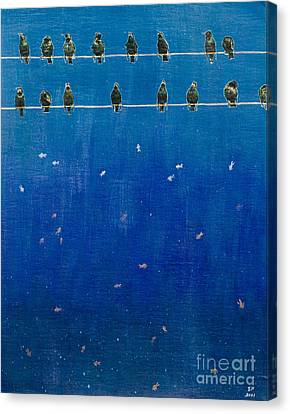 Birds And Fish Canvas Print by Stefanie Forck