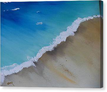 Canvas Print featuring the painting Birds Eye View by Conor Murphy
