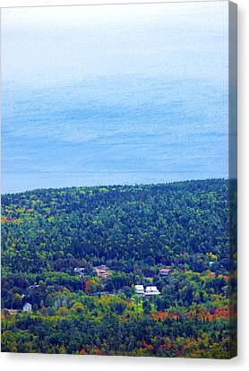Bird's-eye View From Cadillac Mountain Acadia National Park Canvas Print
