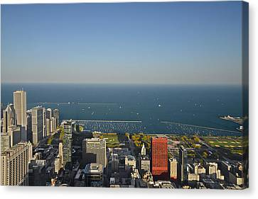 Bird's Eye View Of Chicago's Lakefront Canvas Print by Christine Till