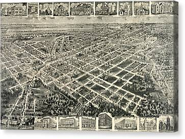 Birds Eye View Of Rocky Mount, North Carolina 1907 Canvas Print by Litz Collection
