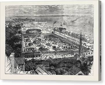 Birds Eye View Of The International Maritime Exhibition Canvas Print