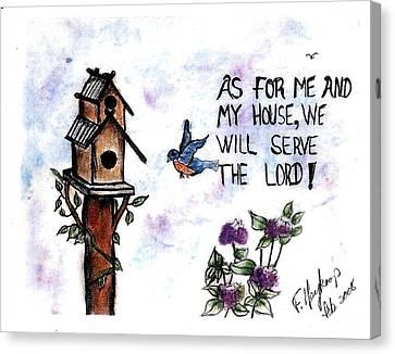 Bird's Home Canvas Print by Francine Heykoop