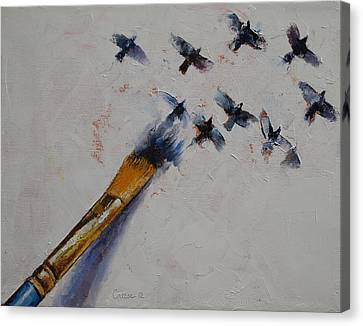 Birds Canvas Print by Michael Creese