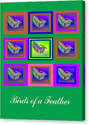 Birds Of A Feather 2 Canvas Print by Stephen Coenen