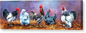 Birds Of A Feather Canvas Print by Jacinta Crowley-Long