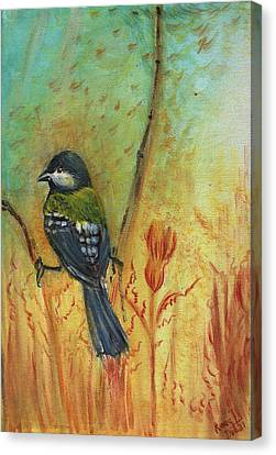 Birds Of A Feather Series3 In Autumn Canvas Print by Remy Francis