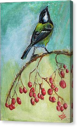 Birds Of A Feather Series4 Canvas Print by Remy Francis