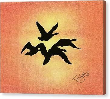 Birds Of Flight Canvas Print