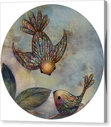 Birds Of Paradise Canvas Print by Karin Taylor