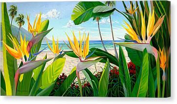 Birds Of Paradise Canvas Print by Steve Simon
