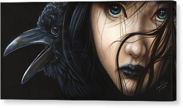 Birds Of Prey- Raven Canvas Print