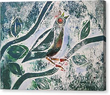 Birdsong Canvas Print by Judy Via-Wolff