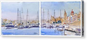 Birgu-senglea Waterfront Malta Canvas Print