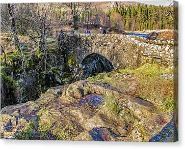 Birks Bridge Lake District Canvas Print by Trevor Kersley