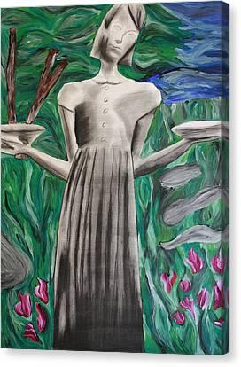 Birl Girl Canvas Print by Rebecca Schoof