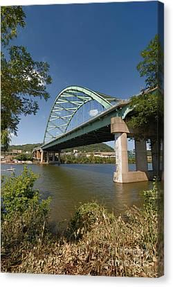 Docked Canvas Print - Birmingham Bridge Pittsburgh South Side by Amy Cicconi