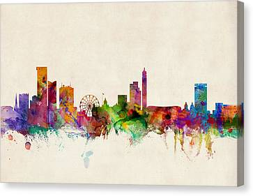 Birmingham England Skyline Canvas Print by Michael Tompsett