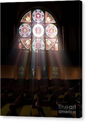 Birmingham Stained Glass Canvas Print